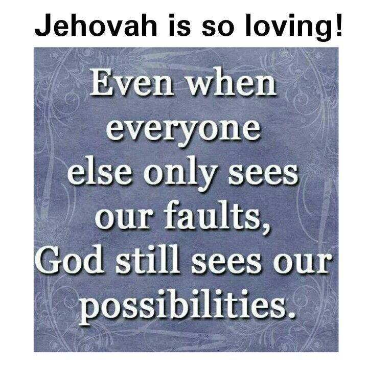Even if we are imperfect Jehovah knows our hearts.