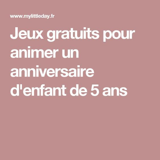 1000 ideas about jeux anniversaire 5 ans on pinterest jeu pour anniversaire showers and jeux. Black Bedroom Furniture Sets. Home Design Ideas