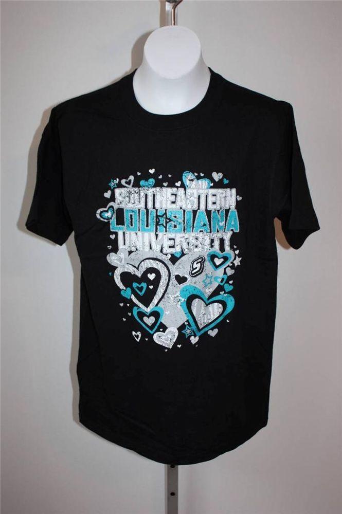 NEW SOUTHEASTERN LOUISIANA UNIVERSITY Womens Small S Cute Black T-Shirt 29JO #SoutheasternLouisiana