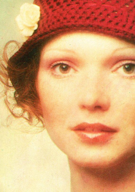 PDF Vintage 1970s Ladies Cloche Hat Crochet by TheAtticofKitsch