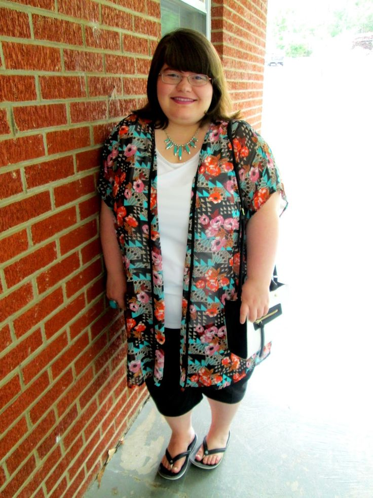 Unique Geek: Plus Size OOTD: My Garden #plussizeoutfit #kimono #plussizefashionblogger