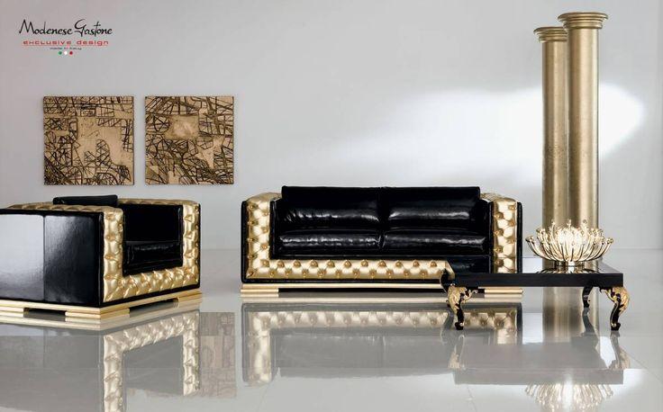 Modern-pop-colored-upholstered-padded-sofa-living-room-Minimal-Baroque-collection-Modenese-Gastone.jpg - Divano oro capitonne con tavolino laccato e intagliato