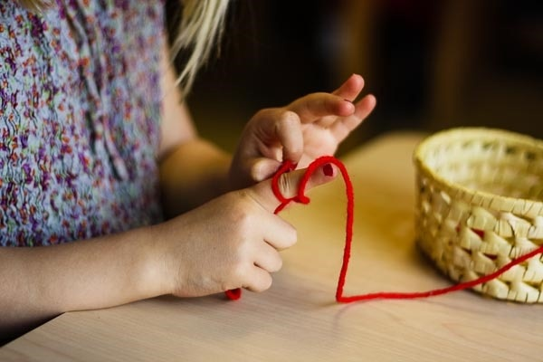 Montessori Finger Knitting: