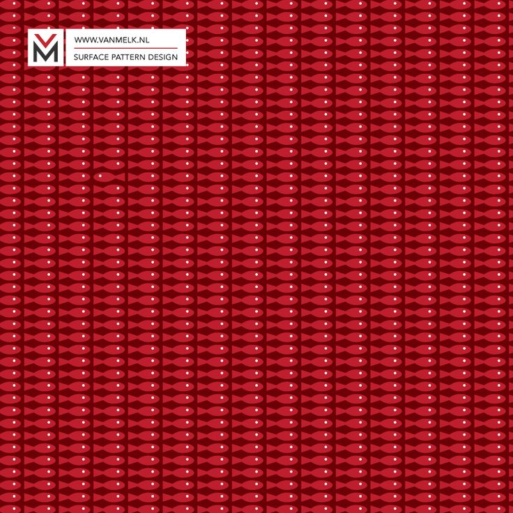 Perky red fish surface pattern design, wallpaper, textile design, wrapping