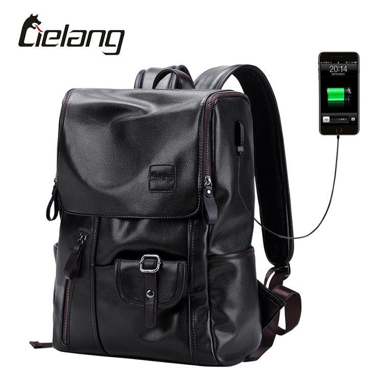 [ $28.50 ] LIELANG Brand Backpack Men External USB Charge Antitheft School Bag PU Leather Travel Bag Casual Bagpack 14 Inch Laptop Rucksack http://ali.ski/ThKmhL #rucksack #bagpack