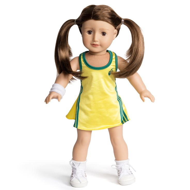 Florrie Doll in the Florrie netball outfit. www.florrie.com.au