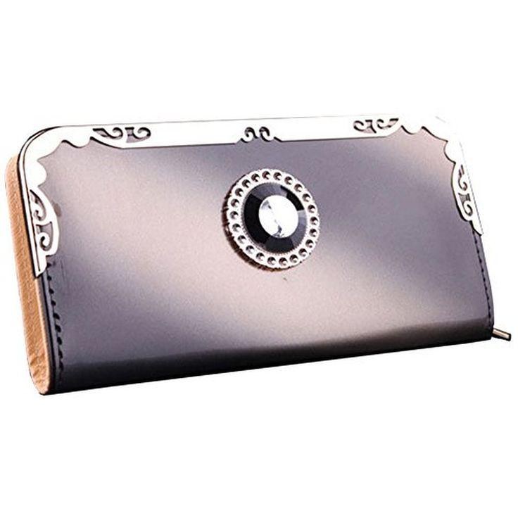 Urparcel Women Gradient Change Long Purse Wallet Card Holder Handbag