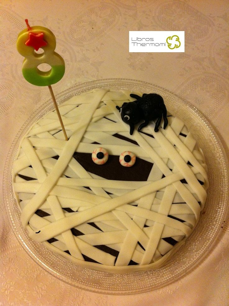 Tarta momia para la fiesta de Halloween con Thermomix