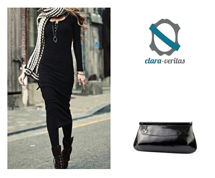 With this beautifull black dress I'd wear Clara-Veritas Bona Clutch!  You can order this bag by visiting: http://sklep.scarpadolce.pl/pl/do-reki/120-clara-veritas.html