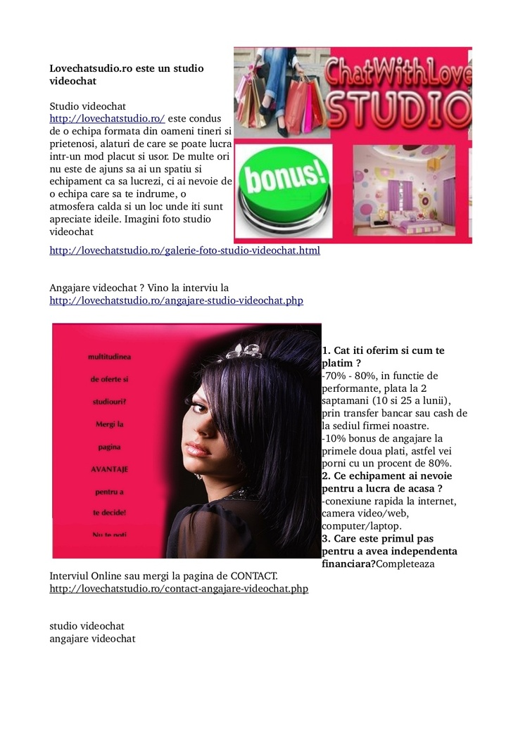 studio-videochat-lovechatstudioro by Chat With Love Studio via Slideshare