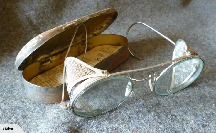Awesome Old Military Cased Glasses With Shields   Trade Me