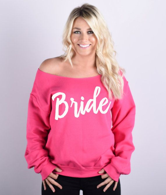 Bride Sweatshirt. Bridal Sweatshirt. Wedding by BrideAndEntourage