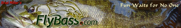 Header for the website http://flybass.com. A great resource for fly fishing information and fun.