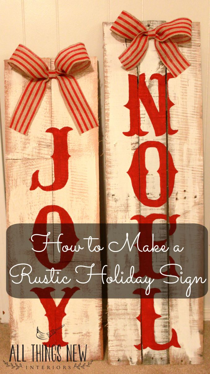 These rustic signs are perfect for your front porch or as a hostess gift! Easy to make!