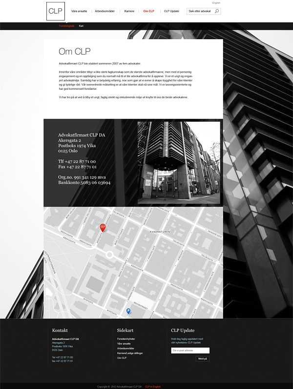Law firm CLP by Unfold , via Behance