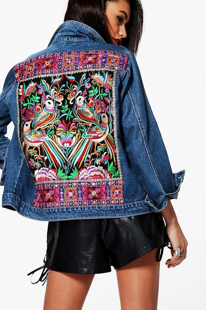 Florence Embellished Denim Festival Jacket