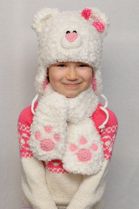 Hija de Don oso sombrero niños sombreros niños caída oído sombrero bebé  niña sombreros osito animales sombrero cálido invierno go… 17fc6e44f82