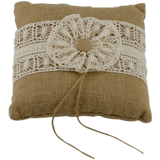 Celebrate It™ Occasions™ Ring Bearer Pillow, BurlapCelebrate It Occasions Ring Bearer Pillow, Burlap