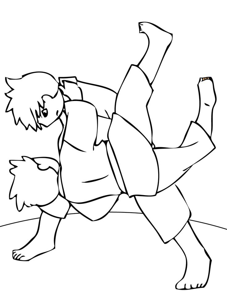 12 best Karate coloring pages images on Pinterest ...