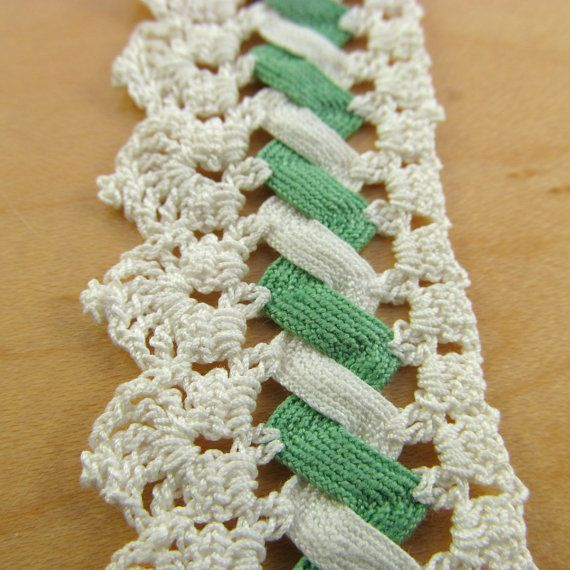 Trim Sewing | Vintage Hand Crocheted Lace Trim Sewing Rick Rack by DodadChick