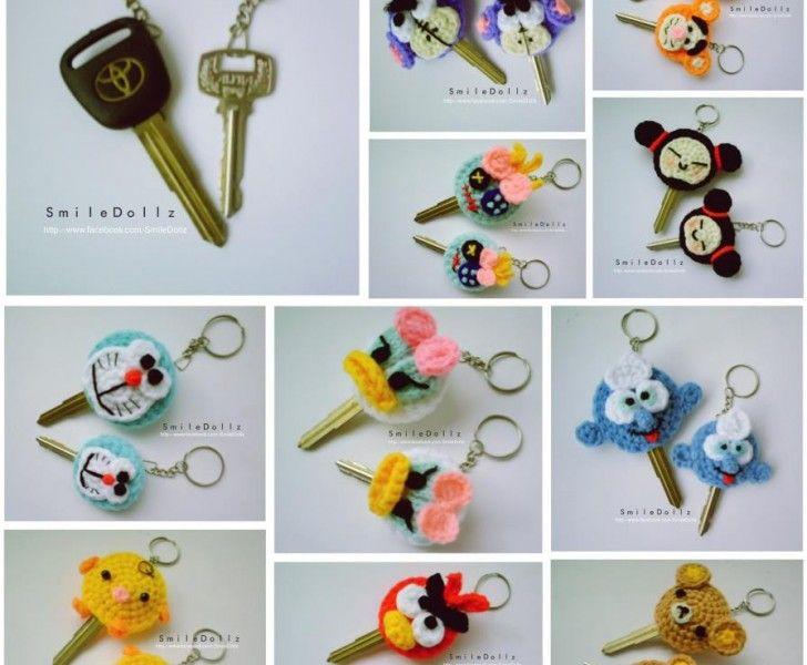 pyssel virka nycklar dekorera tips ide nyckelvärmare