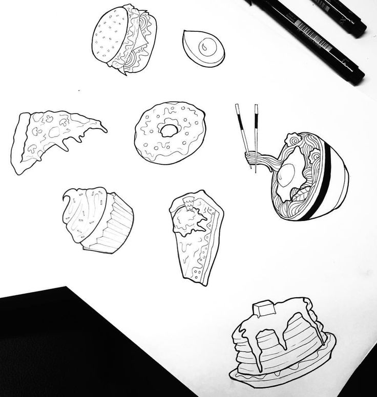 """""""Mi piace"""": 161, commenti: 8 - Dora (@doratattoos) su Instagram: """"Little yummy sketch! I take this opportunity to thank all of you for the support! Be happy and eat…"""""""