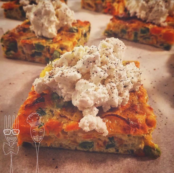 Frittata al forno con verdure e ricotta di pecora -