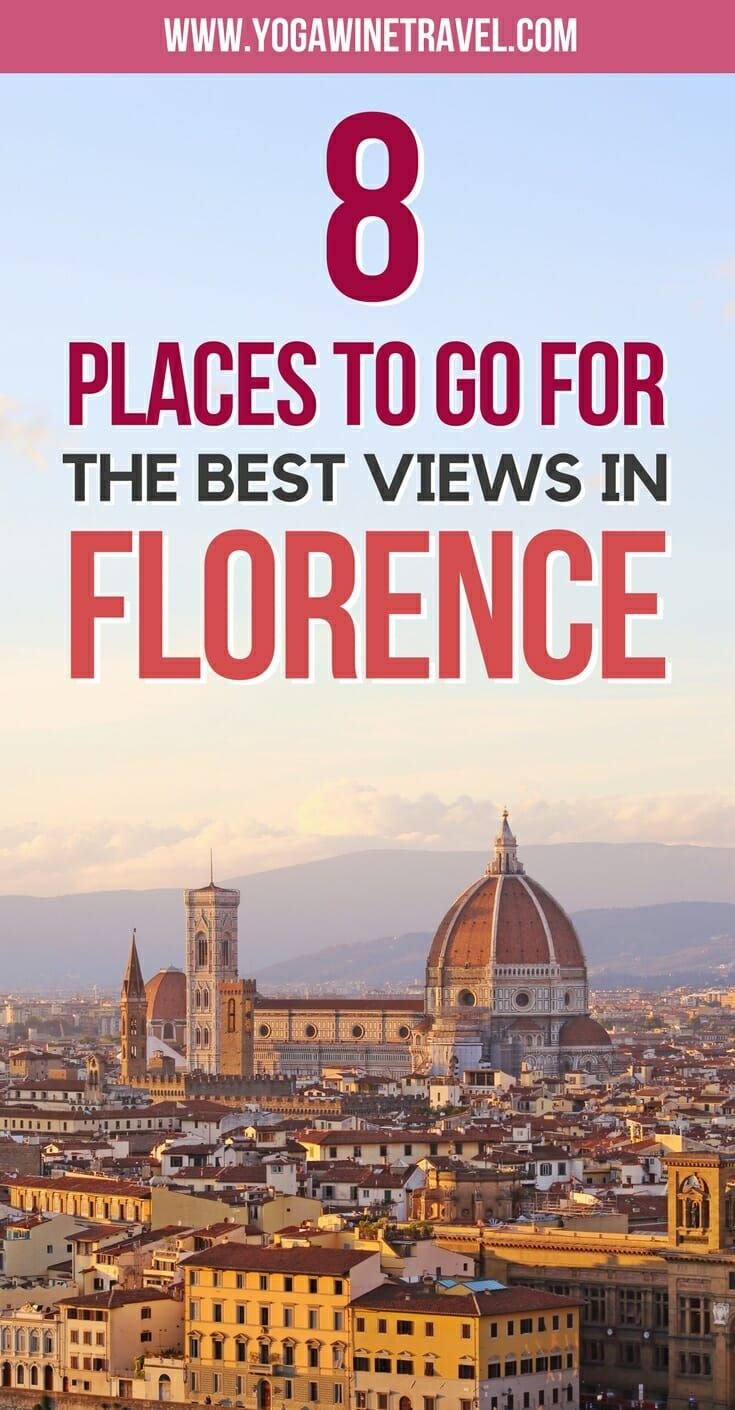 Yogawinetravel.com: 8 Places to Visit for Stunning Views Across Florence, Italy. Looking for the best view of Florence? Here are 8 of the best vantage points to visit to take in the city's magnificent skyline. Read on for the best places to visit, top things to see and where to stay in Florence, Italy.