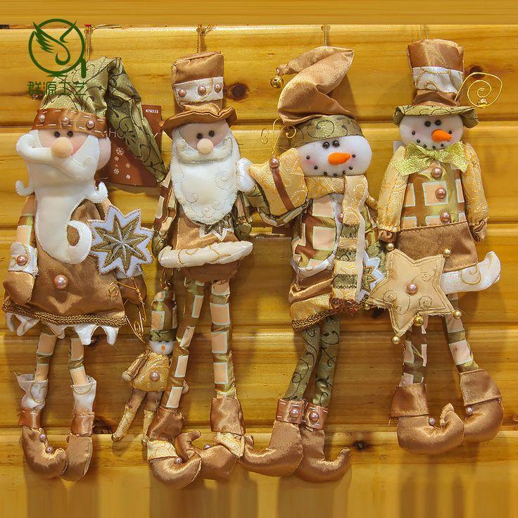 1 шт. Рождественские украшения пиратский Санта Клауса Снеговик 35*10 см случайных отправить детей малыша новогодний подарок дерево декор кулон DF купить на AliExpress