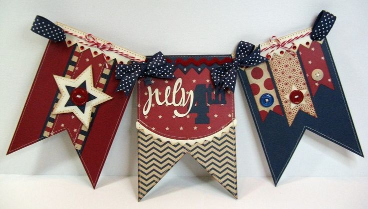Pebbles Let Freedom Ring 4th of July Banner by Mendi Yoshikawa - Scrapbook.com