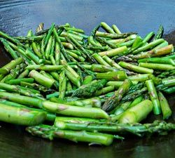 Stir Fried Asparagus with Sorrento Lemon Olive Oil. The lemon infused olive oil adds a nice touch th...