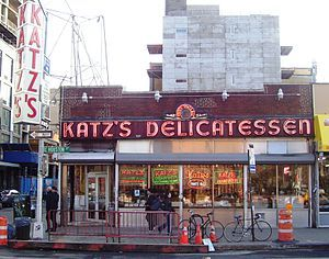 Katz's Delicatessen in New York.  This will be my first stop if I ever get there (either that or Gray's Papaya).