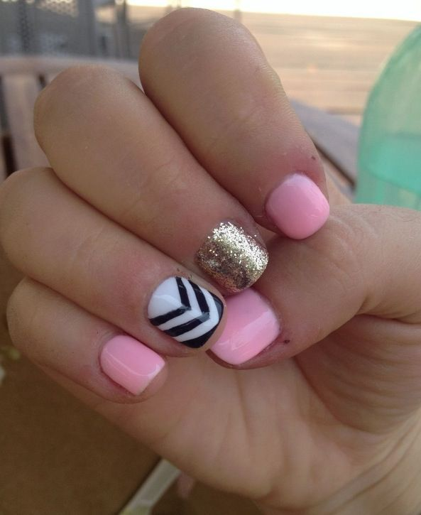 Colors go together so good!  | See more nail designs at www.nailsss.com/...