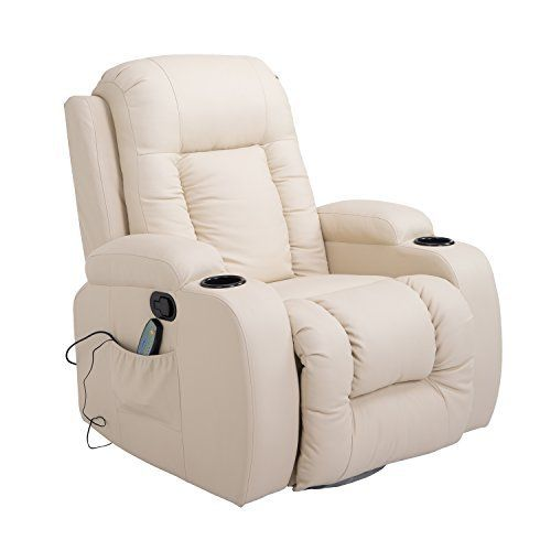 Color:Cream White Relaxing times call for a relaxing recliner with heating, vibrating and massaging features from HomCom. Enjoy a comfortable vibration massage and soothing lumbar heat treatment with the Homcom PU Leather Heated Vibrating Massage Recliner Chair with Remote. Whether you're... more details available at https://furniture.bestselleroutlets.com/children-furniture/chairs-seats/armchairs/product-review-for-homcom-pu-leather-heated-vibrating-massage-swivel-recli