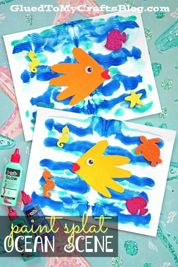 Paint Splat Ocean Scene For Kids To Make This Summer With Images