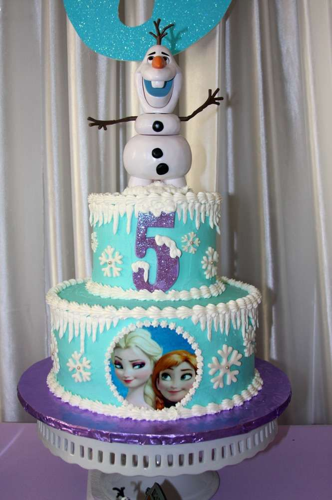 Amazing Frozen Birthday Party cake!  See more party planning ideas at CatchMyParty.com!