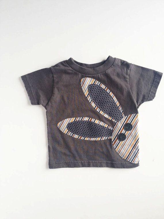 Bunny Rabbit T Shirt for Boy Boy Easter Shirt by kakabaka on Etsy, $18.00