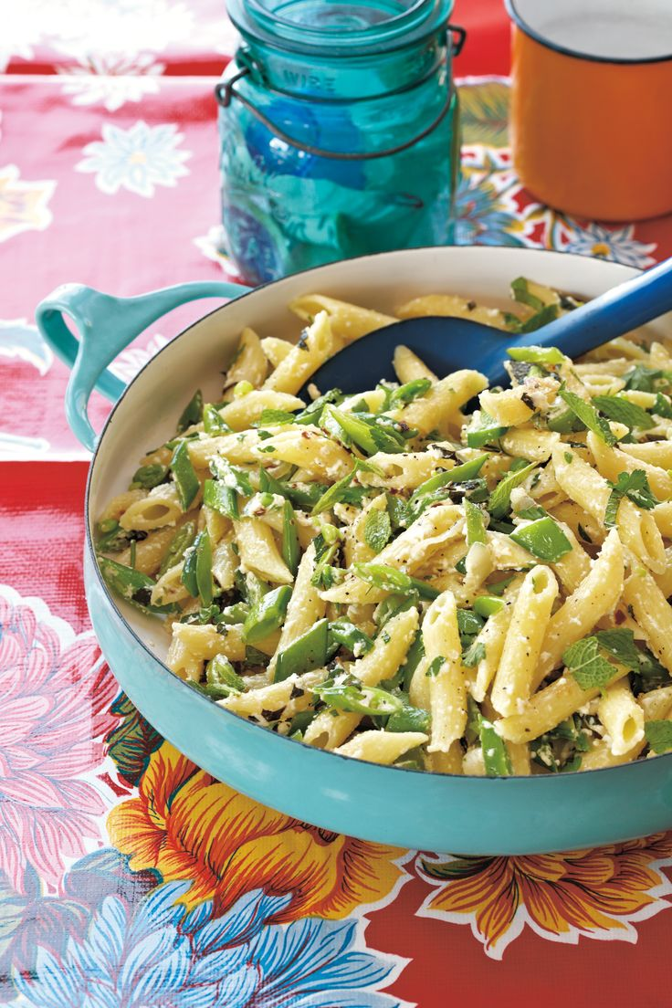 Penne with Sugar Snap Peas and Ricotta