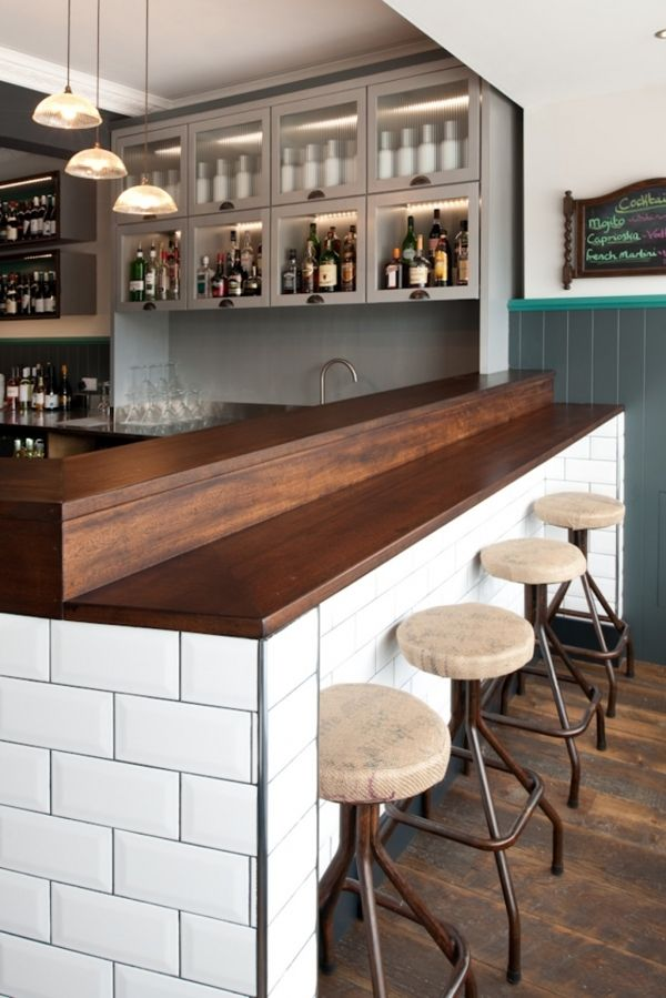 Great example of mixed finishes wood lends warmth tile