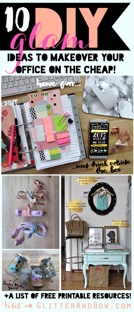 10 glam chic home office organization and makeover tips Cheap and easy organizing ideas