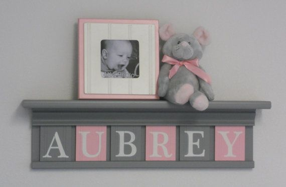 Gray and Pink  Pastel Pink Baby Girl Nursery Grey by NelsonsGifts, $38.00: Nurseries Decor, Pink Pastel, Baby Girl Nurserys, Girls Names, Pink Baby, Girl Nurseries, Pastel Pink, Nurseries Grey, Baby Girls Nurseries