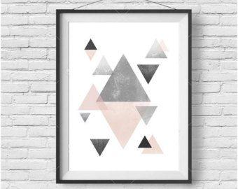 Fard à joues cerf imprimé cerf Wall Art affiche de par PrintAvenue
