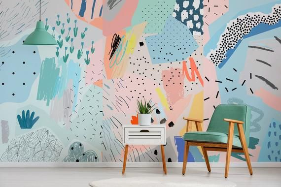 Removable Wallpaper Peel And Stick Wallpaper Wall Paper Wall Etsy Wall Wallpaper Removable Wallpaper Wall Murals