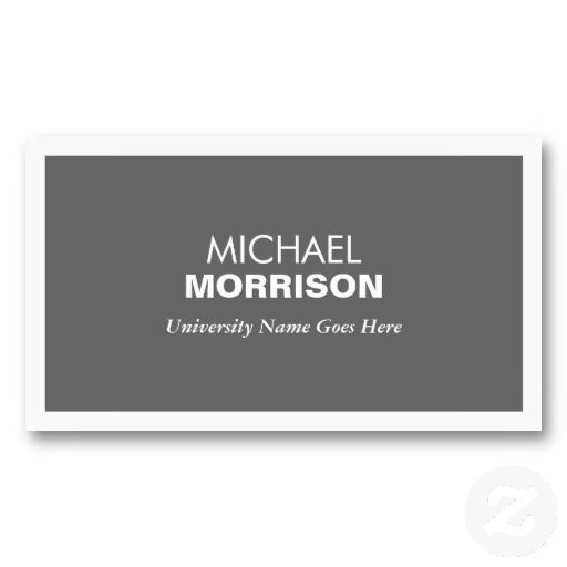 21 best business cards for college and university students images on modern gray business card for college students colourmoves Images