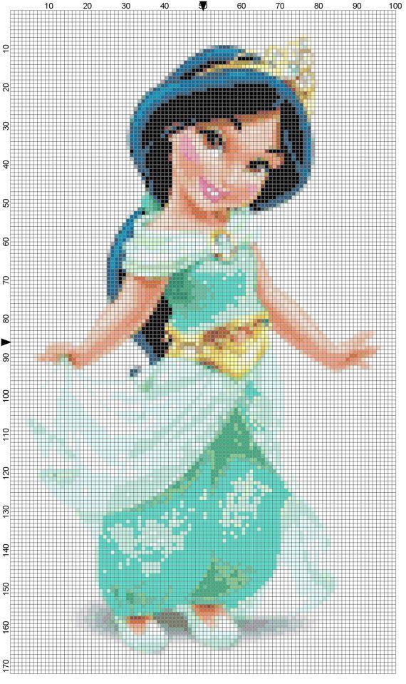 Mini Jasmine cross stitch pattern PDF by Bluegiantstitch on Etsy, £1.20