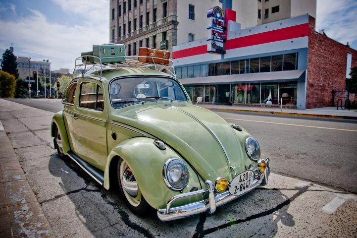 Roof Rack Or No Roof Rack?   #Vintage #Volkswagen #beetle #green   Getting  Around ...   Pinterest   Roof Rack