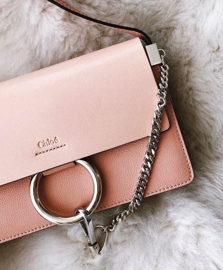 Chloe Pink Handbag | #Bag in #Pink with Silver Hardware |