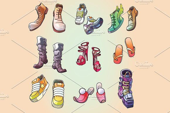 Some Original Vector Shoes #vector #illustration
