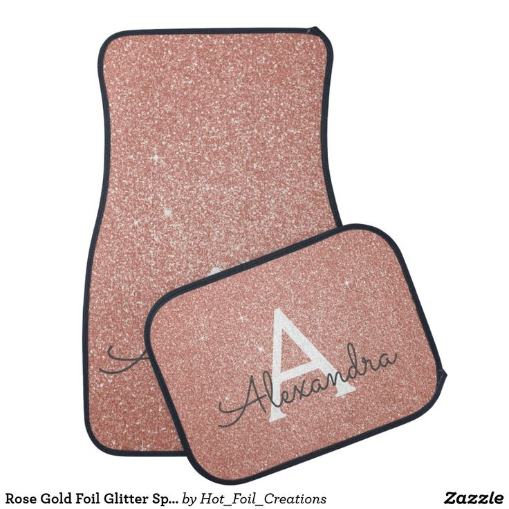 Rose gold car mats vintage metal gas can