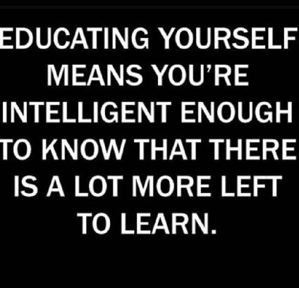 And humble enough to admit you don't know everything...